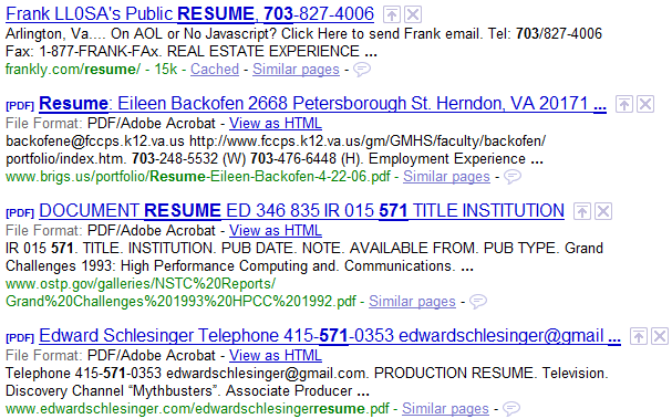 How to find resumes on the internet with google boolean black belt to altavistaventures