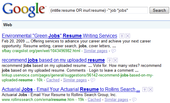 challenging google resume search assumptions