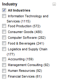 LinkedIn_Food_Production_Search_Industry_Selections