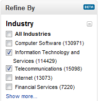 LinkedIn Industry Search