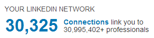 LinkedIn Connections 30,325