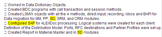 Monster NEAR operator SAP SD example of sentence bleed