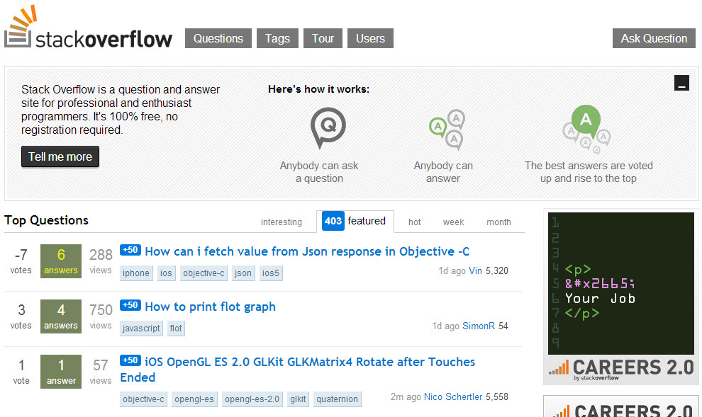 Stack Overflow Main