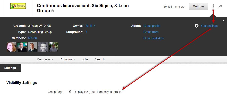 LinkedIn Group Settings Visibility